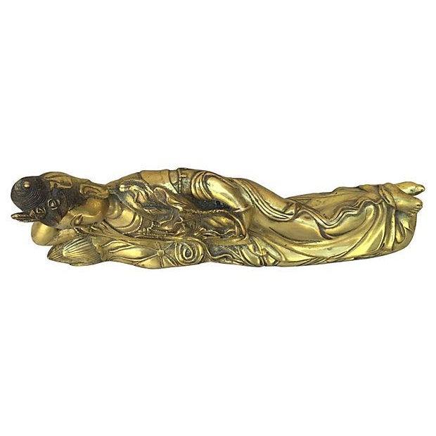 Quan Yin Brass Reclining Statue - Image 7 of 7