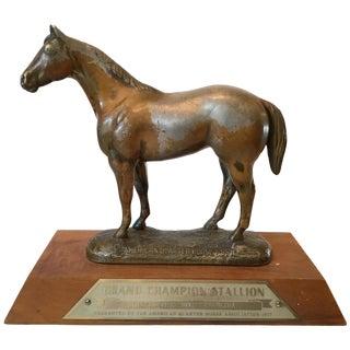Lead Horse Sculpture