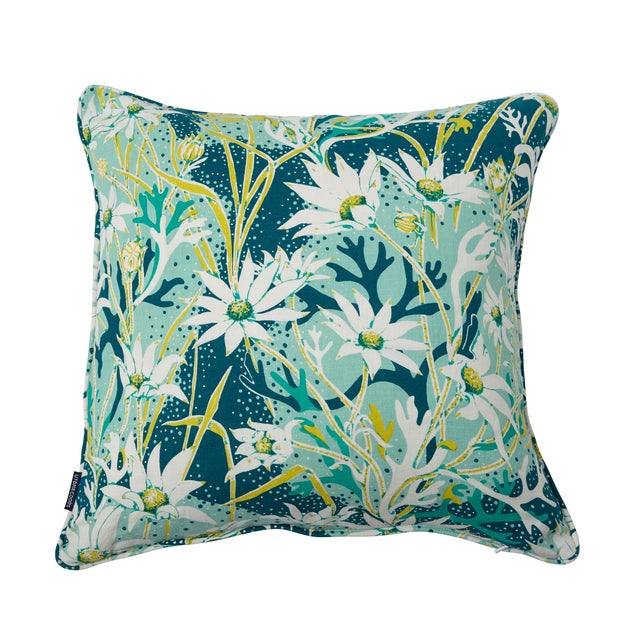 Green & Blue Harbour Mist Throw Pillow - Image 1 of 2