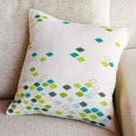 Image of Green Diamond Pillow Cover