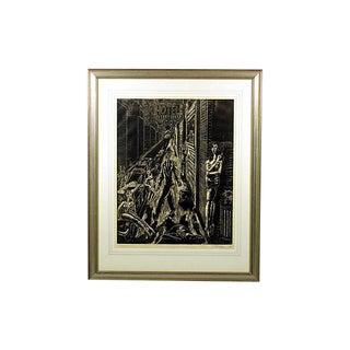 Framed Robert Lederman Lithograph