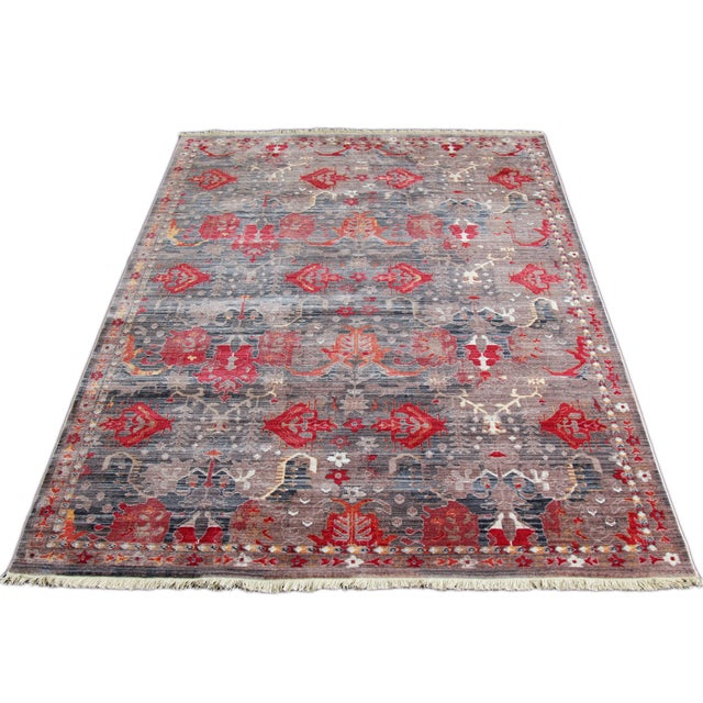 Picasso Soft Turkish Red Rug - 5′ × 7′7″ - Image 2 of 5