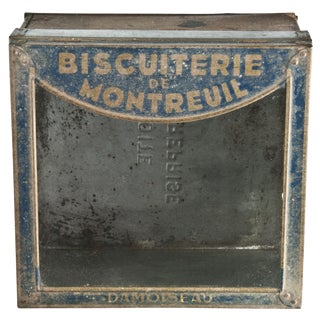 Antique French Biscuit Display Tin