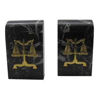 Vintage Law Scale Bookends - A Pair