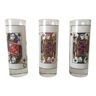 Mid-Century Poker Playing Card Cordial Glasses- 3