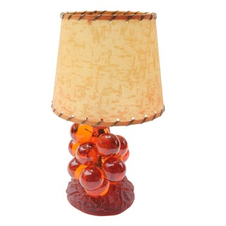 Lucite Grape Cluster Table Lamp