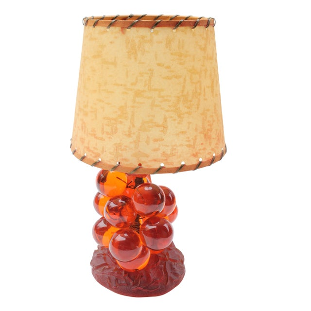 Lucite Grape Cluster Table Lamp - Image 1 of 6