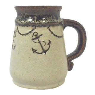 Nautical Anchor Studio Pottery Mug