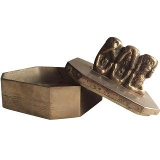 "Vintage ""See No Evil""  Brass Monkey Box"