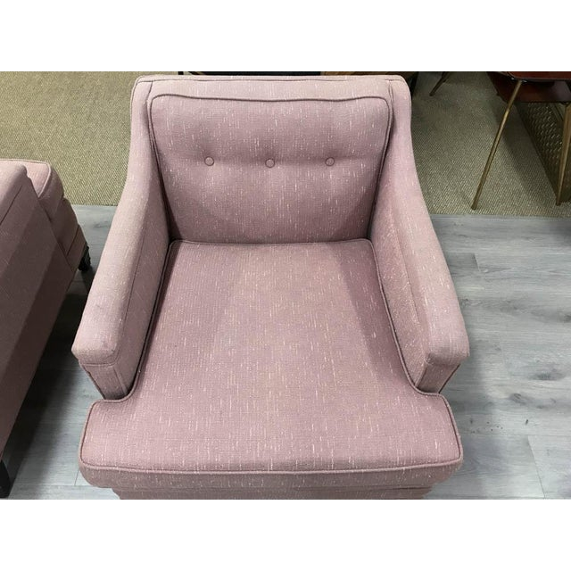 Mid-Century Transitional Club Chairs - A Pair - Image 5 of 8