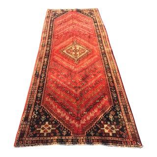 "Vintage Persian Qashghi Runner - 3'6""x9'10"""