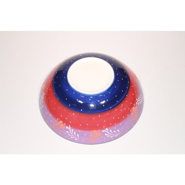 Multicolor Hand Made Turkish Bowl - Image 4 of 5