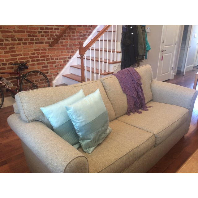 Image of Natural Twill Sleeper Sofa