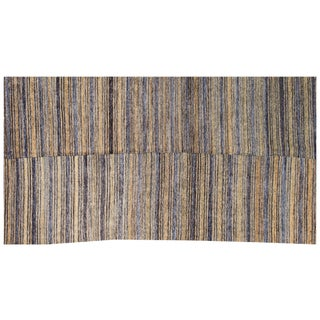 Antique Turkish Handmade Striped Flat Weave Rug - 5′3″ × 7′5″