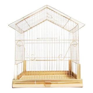 Vintage Mid Century Metal Bird Cage, 1960s