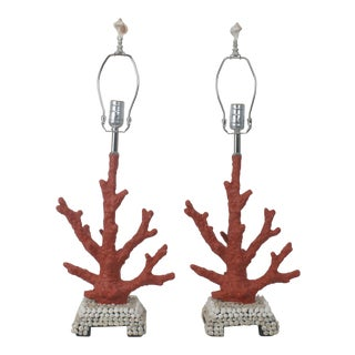 Shell & Coral Lamp - A Pair