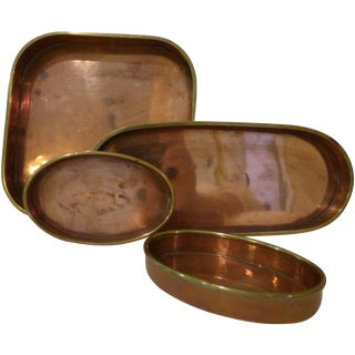 MacIver Orton Copper and Brass Trays - Set of 4