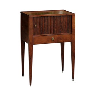 English Side Table with Tambour Door
