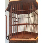 Image of Antique 1920s Pnf Birdcage & Decorative Stand