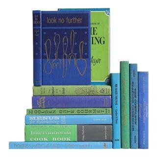 Vintage Cookbook in Blue & Green - Set of 12