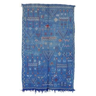 """Vintage Moroccan Cactus Silk Rug - 4'8"""" X 7'7"""""""