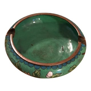 Chinese Cloisonné Hand Painted Ashtray