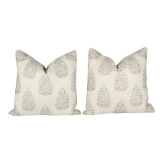 Custom Kedara Leaf Pillows - A Pair