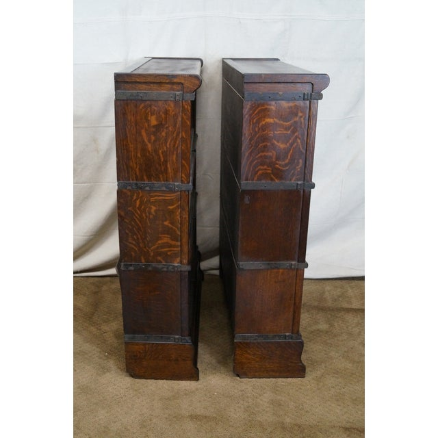 Image of Antique Barristers Stacking Bookcase - Pair