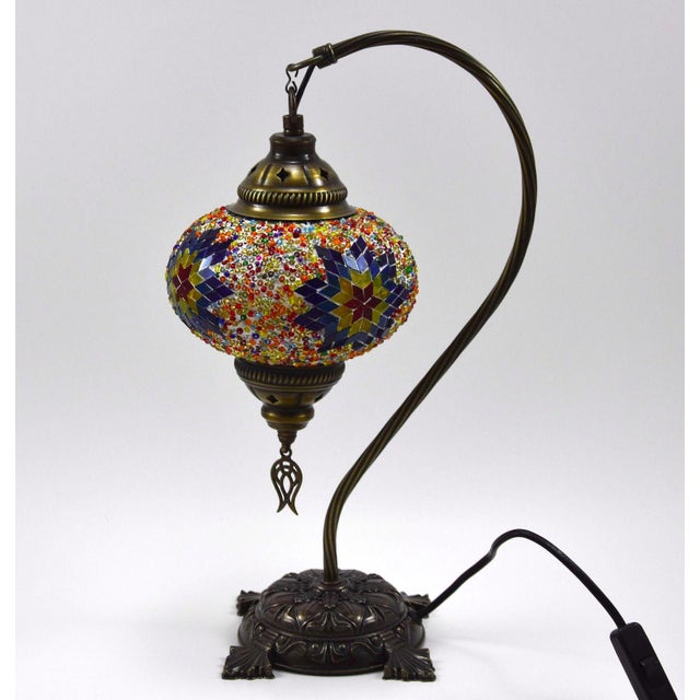 Turkish Handmade Mosaic Lamp - Image 2 of 7