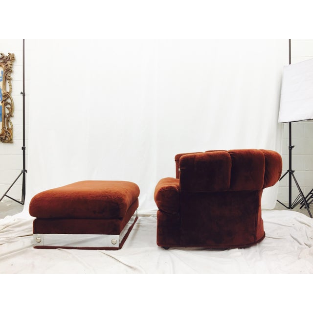 Vintage Mid-Century Modern Chair & Ottoman - A Pair - Image 8 of 11