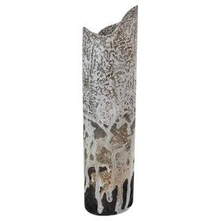 Franco Agnese Cylindric Ceramic Vase, France, 1960s