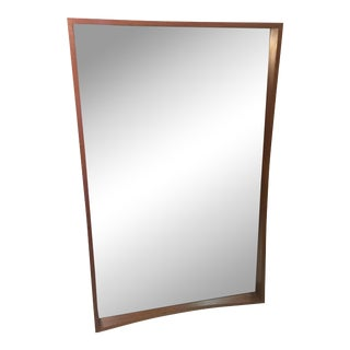 Modernist Danish Splined Teak Mirror
