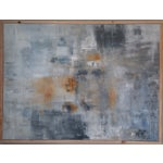 """Image of """"Blue Jeans"""" Framed Abstract Art by Kris Gould"""