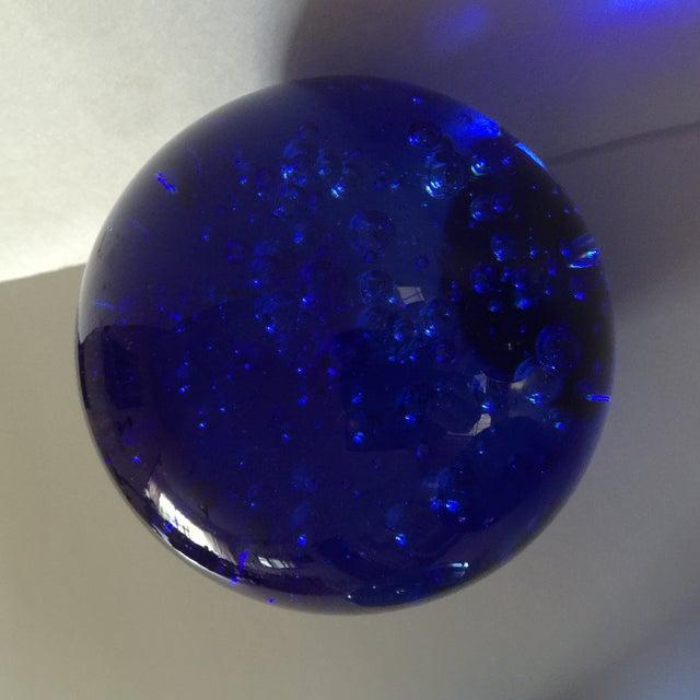 Blue Glass Bubble Balls - Set of 5 - Image 5 of 8