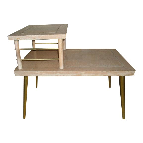 Image of Lane Retro 1960s Two Tiered Side Table