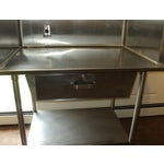 Image of Industrial Stainless Steel Restaurant Island Table