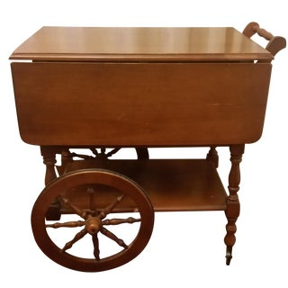Mid-Century Modern Maple Tea Cart