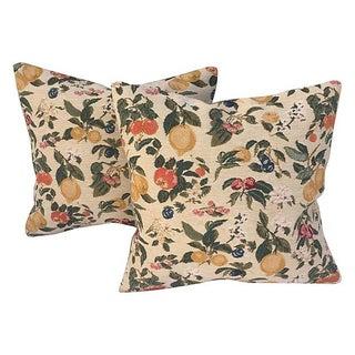 Summer Fruit & Floral Pillows - Pair