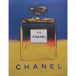 Blue & Yellow Andy Warhol 1997 Chanel No. 5 Poster
