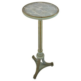Louis XVI Style Gilt & Green Pedestal Table