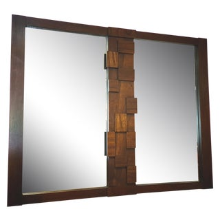 Paul Evans for Lane Company Brutalist Wall Mirror