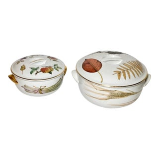 Royal Worcester Evesham Casseroles - A Pair