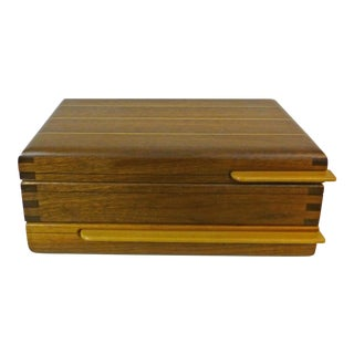 Mid-Century Californa Design Wood Jewelry Box