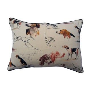 Throw Pillow in Pierre Frey Dogs Fabric