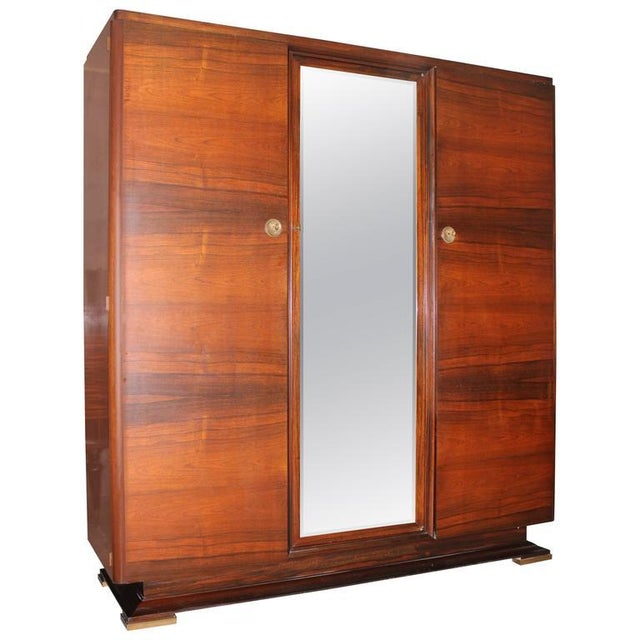 maxime old french art deco masterpiece armoire chairish. Black Bedroom Furniture Sets. Home Design Ideas