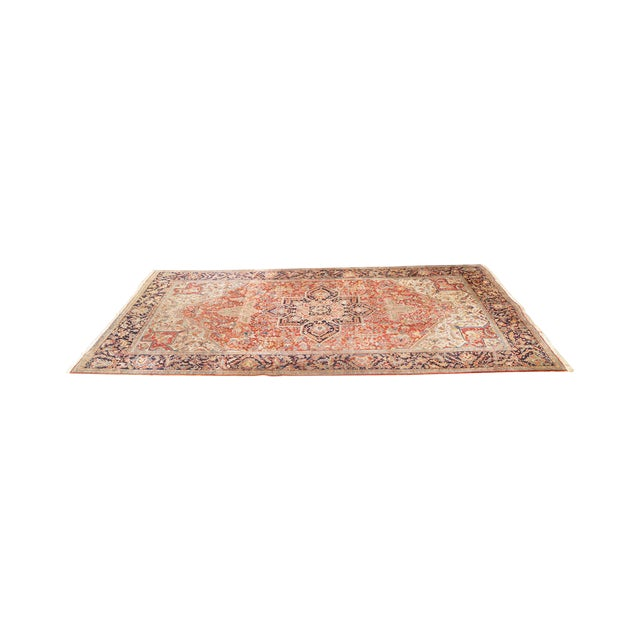 Antique Hand Woven Persian Heriz Rug - 11′6″ × 16′8″ - Image 1 of 10