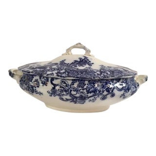 Blue & White English Transferware Tureen