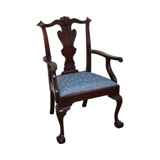 Henkel Harris Chippendale Style Ball & Claw Arm Chair