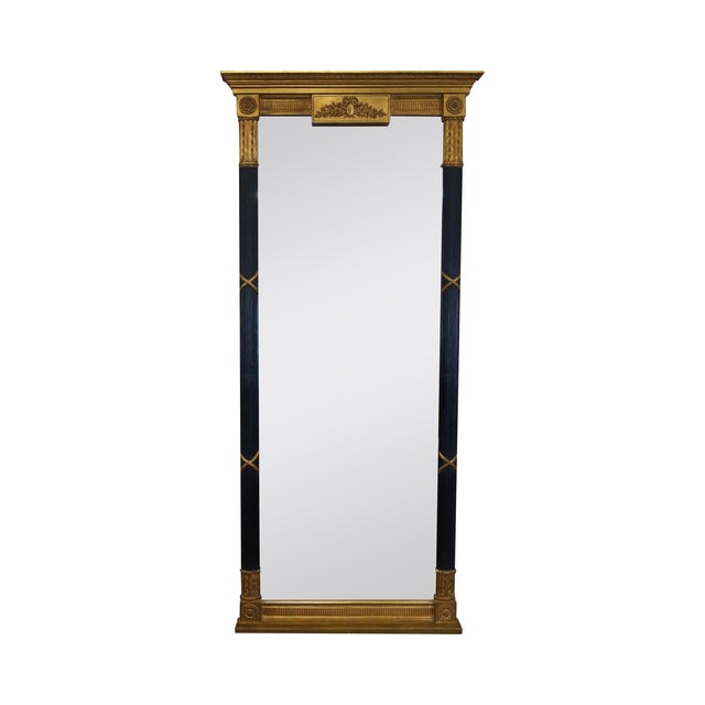 LaBarge Ebonized and Gilded Classical Style Mirror - Image 1 of 10