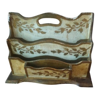 Florentia Gold & White Letter Holder